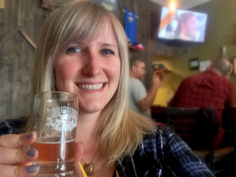 Me with a Beer in a Pittsburgh Brewery :: I've Been Bit! A Travel Blog