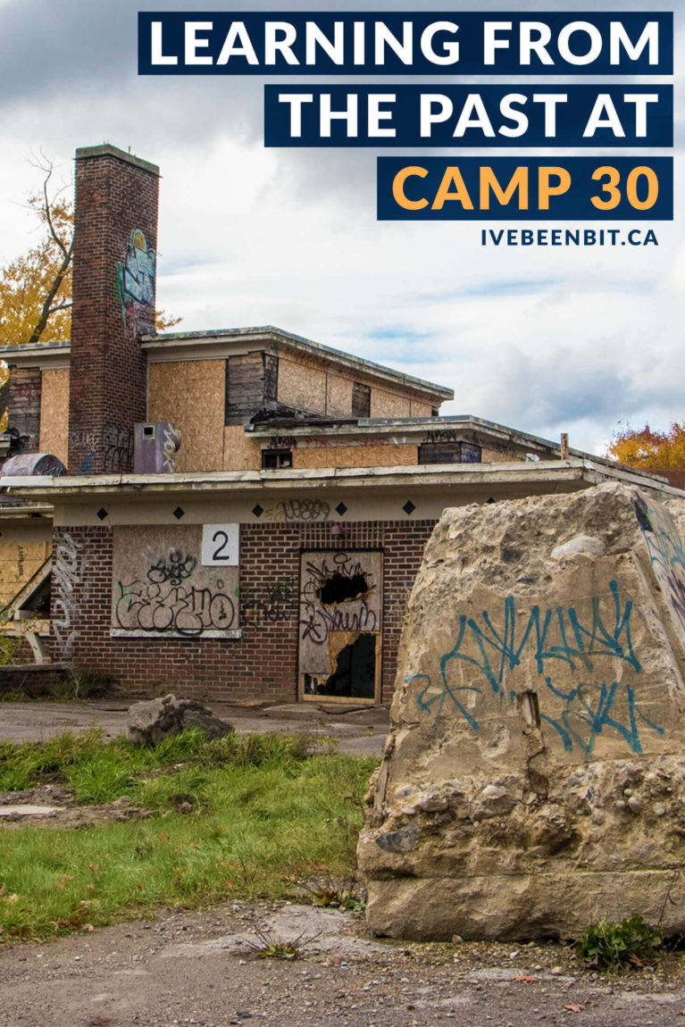 Experience Bowmanville's POW Camp - a piece of decaying World War II history. Learn about the past, present and future of Camp 30, one of the creepiest places in Ontario, Canada. | #Canada #Ontario #Bowmanville #Travel #DarkTourism #UrbanExploration | IveBeenBit.ca