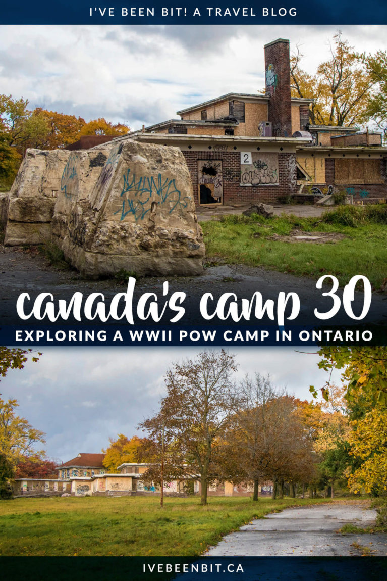 A piece of decaying World War II history, experience a POW Camp in Canada - Camp 30 in Bowmanville, Ontario. Learn about the past, present and future of one of the creepiest places in Ontario, Canada. | #Canada #Ontario #Bowmanville #Travel #DarkTourism #UrbanExploration | IveBeenBit.ca