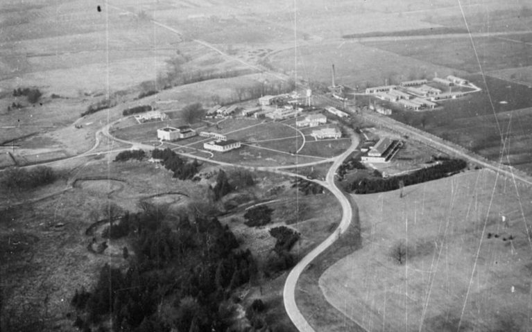 Aerial View of the Bowmanville POW Camp, Camp 30 :: I've Been Bit! A Travel Blog