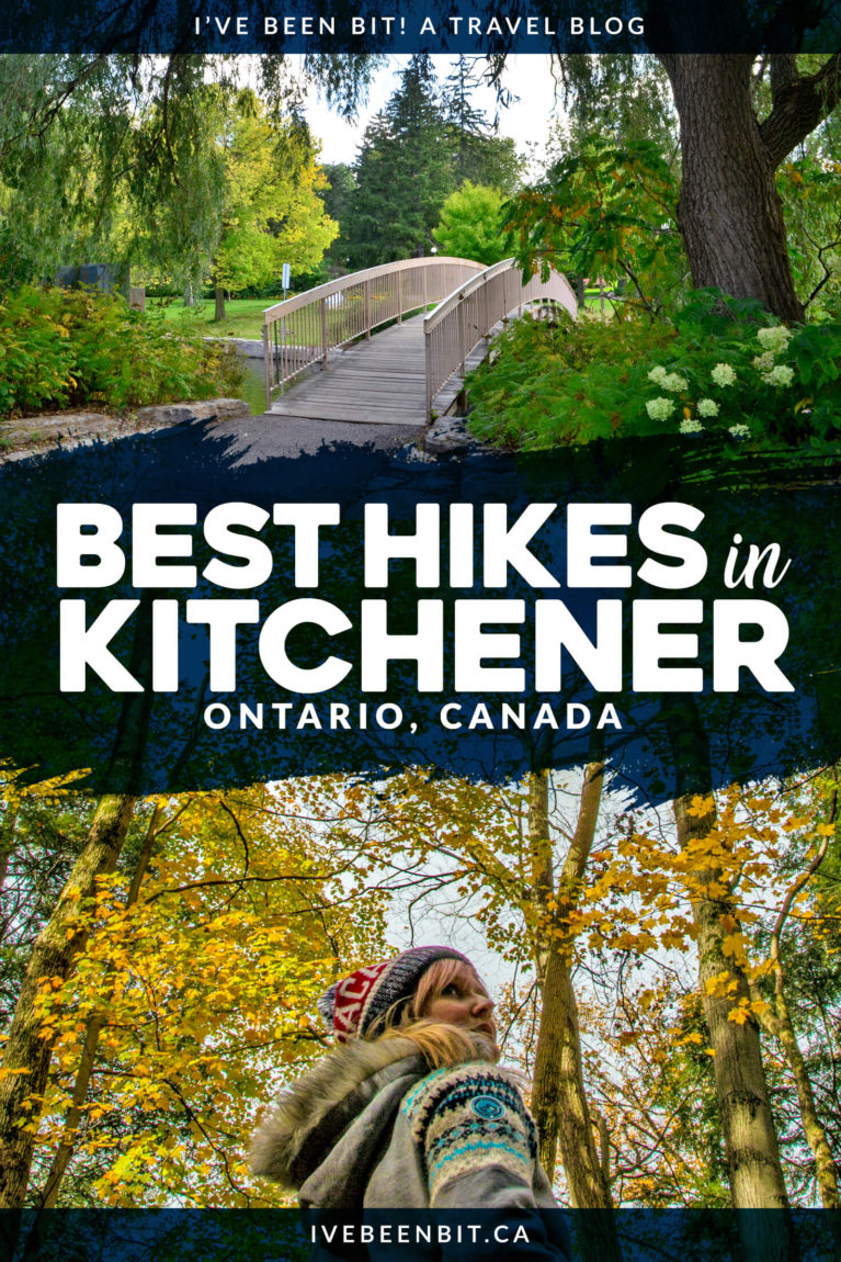 Just one of the many great things to do in Kitchener, Ontario, Canada. Check out the best hiking trails in Kitchener! These amazing hikes are just the dose of nature you need in Waterloo Region. Hiking trails in Ontario, Canada. Walking trails in Kitchener-Waterloo. | #Travel #Hiking #Kitchener #WaterlooRegion #Ontario #Canada | IveBeenBit.ca