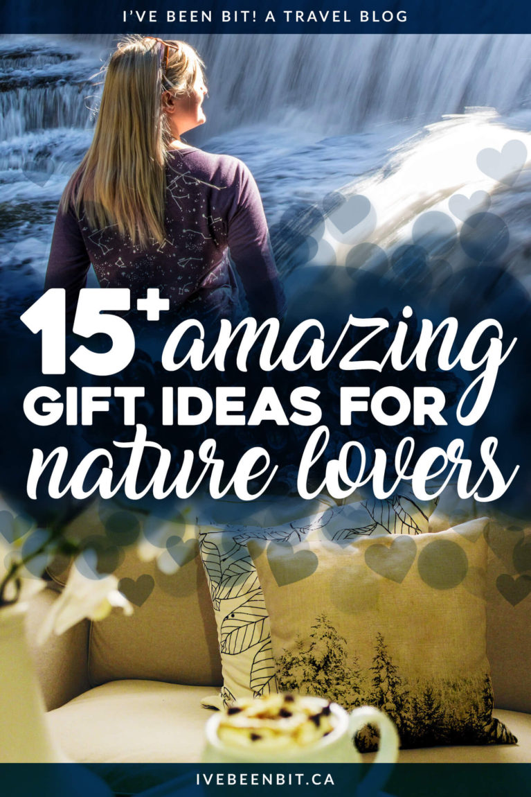 Whether you're shopping for Christmas gifts, birthday gifts or just 'you're so awesome' gifts, this list of gift ideas for nature lovers will wow the outdoorsy adventurer on your list! Nature-themed gifts you'll love. Christmas gift guide for nature lovers. Birthday gift guide for outdoor enthusiasts. | #Travel #Gift #GiftGuide #ChristmasGiftGuide #ChristmasGifts #BirthdayGifts #BirthdayGiftGuide | IveBeenBit.ca