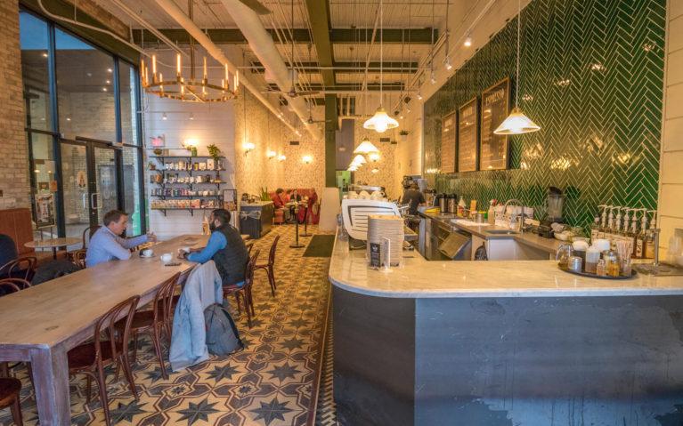 Interior of Balzac's Coffee in Kitchener Ontario :: I've Been Bit! Travel Blog