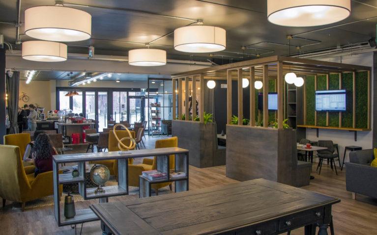 Interior of Monigram Coffee Roasters, one of the Kitchener coffee shops :: I've Been Bit! Travel Blog