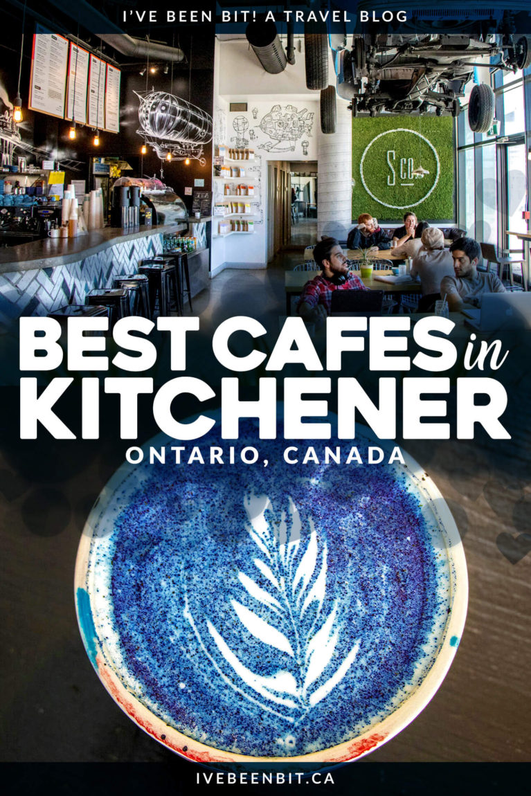 Whether you're looking for a pick me up or just a solid cup of coffee, these cafes in Kitchener, Ontario won't let you down! Coffee shops in Kitchener, Ontario, Canada. | #Travel #Kitchener #KW #WaterlooRegion #Ontario #Canada #Coffee #CoffeeShop #Cafe | IveBeenBit.ca