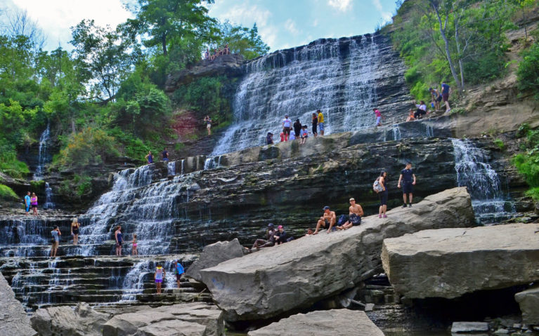 Albion Falls From Below When the Base was Accessible :: I've Been Bit! A Travel Blog
