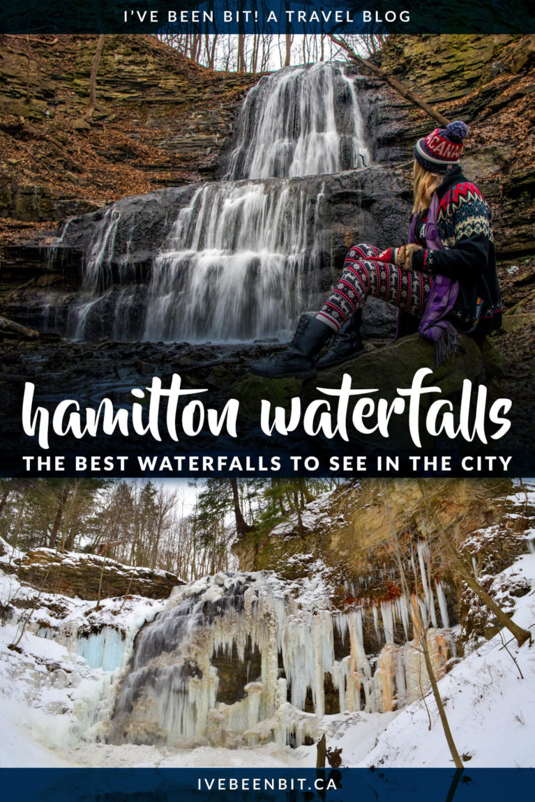 It's called the city of waterfalls for a reason! Don't be overwhelmed by the 120+ waterfalls and check out this guide to the best waterfalls in Hamilton, Ontario, Canada! Waterfall hiking trails that you won't want to miss! | #Travel #Canada #Ontario #Hamilton #Hiking #Waterfalls | IveBeenBit.ca