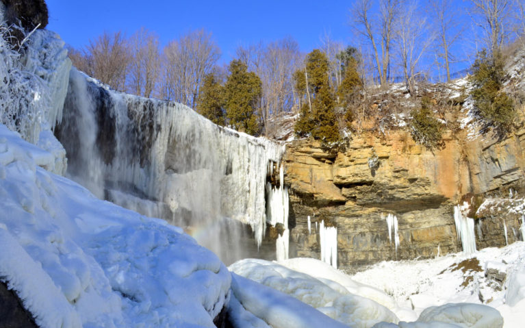Base of Hamilton's Webster's Falls in Winter :: I've Been Bit! A Travel Blog