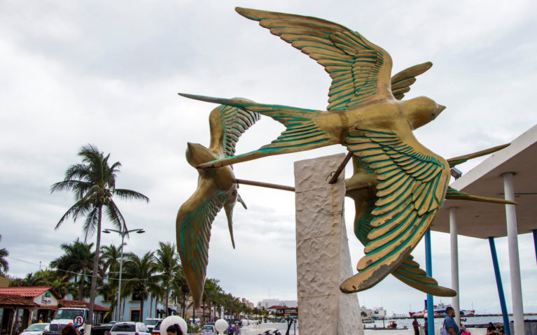 Bird Sculptures by the Ferry Terminal in Cozumel :: I've Been Bit! A Travel Blog