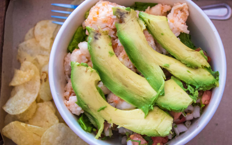 Lobster Rice Bowl with Avocado from Lobster Shack Cozumel :: I've Been Bit! A Travel Blog