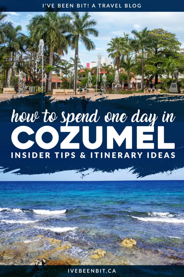 Whether you're spending one day in Cozumel, Mexico or planning on staying longer, there's lots to see and do! This Cozumel itinerary will help you plan your visit as it includes things to do in Cozumel, restaurants in Cozumel, insider tips for visiting Cozumel and more! | #Travel #Cozumel #Mexico #Itinerary #TravelTips | IveBeenBit.ca