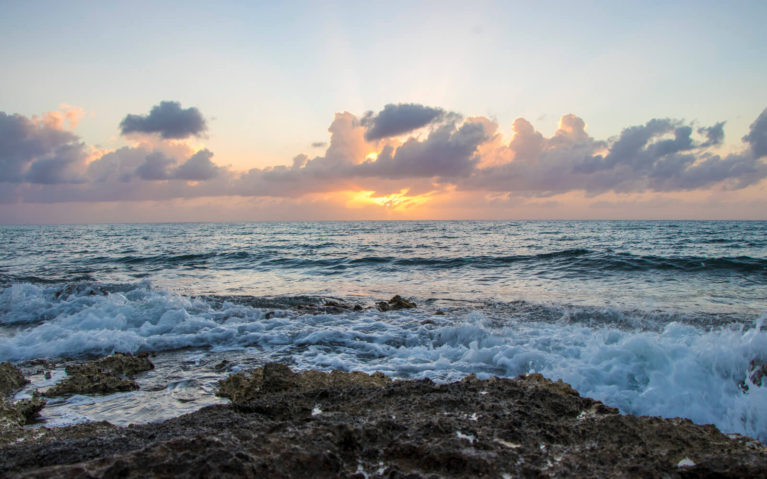 Sunset Along the Shore in Cozumel Mexico :: I've Been Bit! A Travel Blog