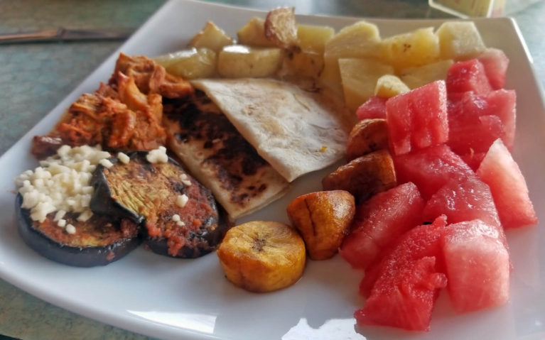 Plate of Food at Resort in Mexico :: I've Been Bit! A Travel Blog