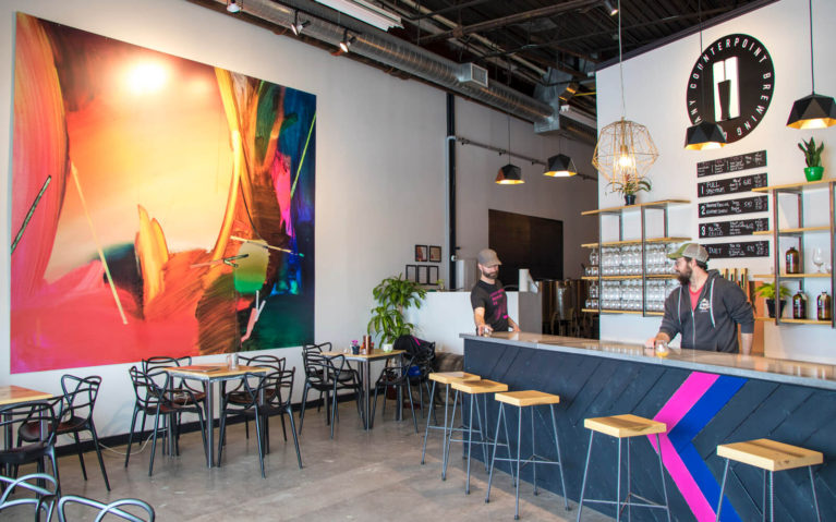 View Inside the Counterpoint Brewing Tap Room, a Kitchener Brewery :: I've Been Bit! Travel Blog