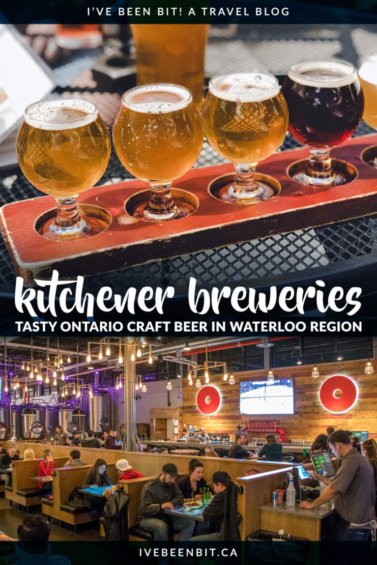 There's a reason why Waterloo Region has to largest Oktoberfest celebration outside of Germany! These Kitchener Waterloo breweries have top-notch Ontario craft beer you don't want to miss. You'll regret not visiting to try some of this Ontario beer! | #Travel #Beer #CraftBeer #Canada #Ontario #Kitchener #Waterloo | IveBeenBit.ca