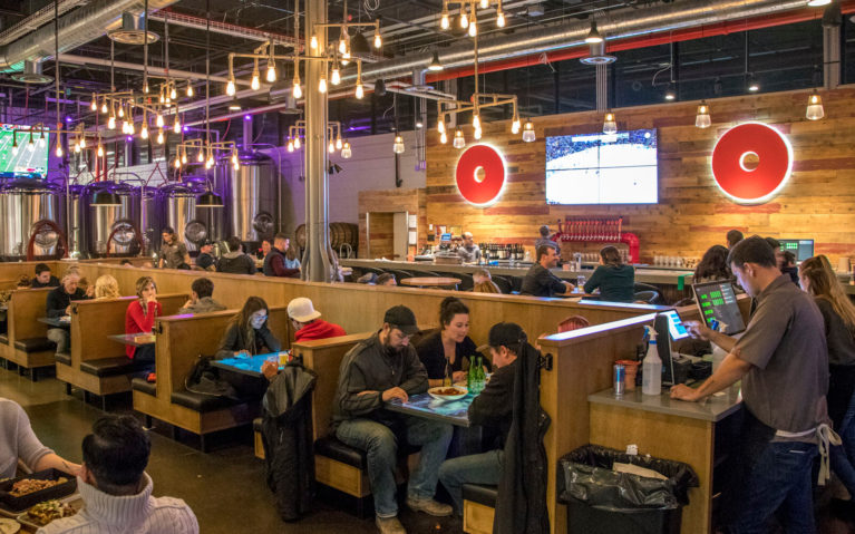 Shot of the Restaurant and Bar Inside Red Circle Brewery in Kitchener :: I've Been Bit! Travel Blog