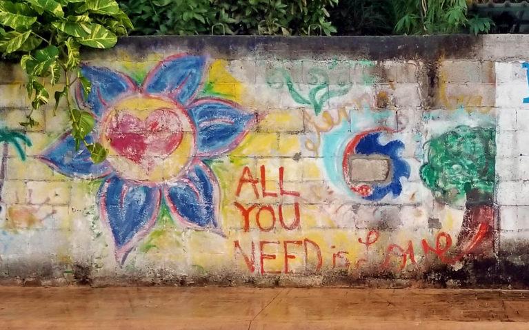 All You Need Is Love Graffiti Cozumel :: I've Been Bit! Travel Blog