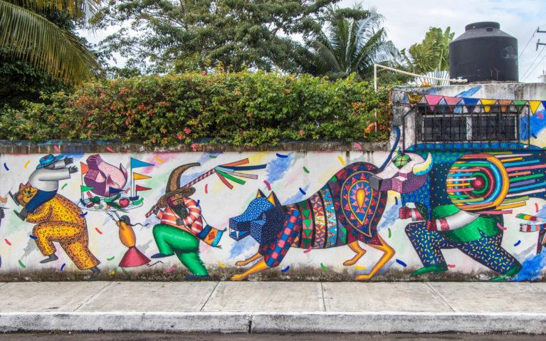 Casa Mission's Fiesta Mural in Cozumel :: I've Been Bit! Travel Blog