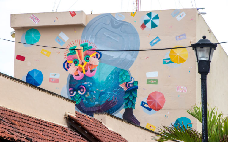 Cozumel Street Art by USA Artist Curiot :: I've Been Bit! Travel Blog