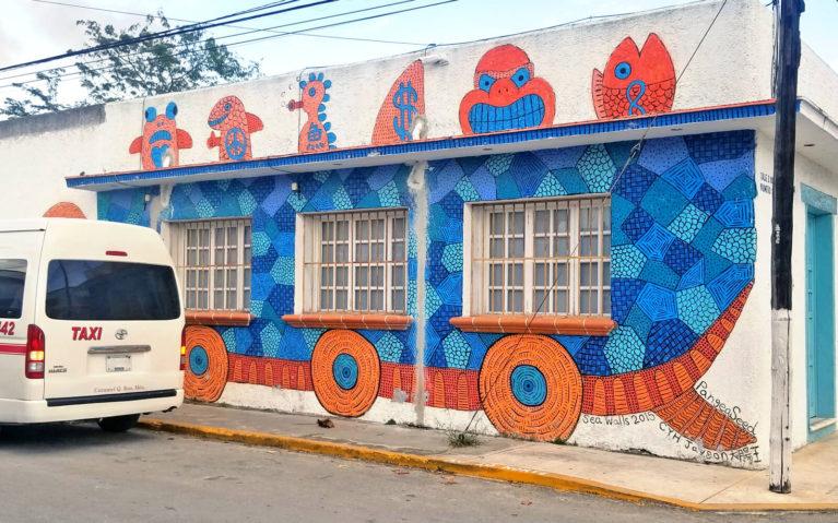 Taiwanese Artist Cyh Jason's Mural for Pangeaseed's Sea Walls in Cozumel :: I've Been Bit! Travel Blog