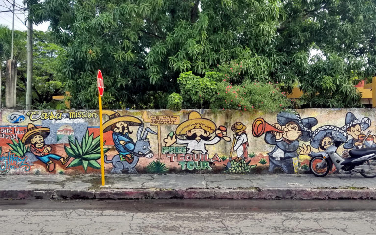 Free Tequila Tour Mural in Cozumel, Mexico :: I've Been Bit! Travel Blog