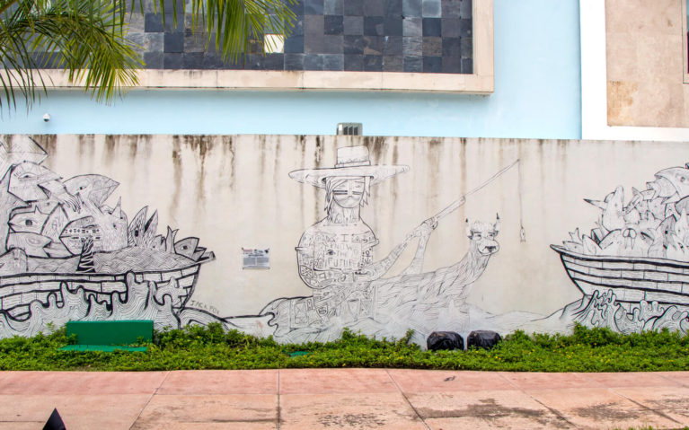 South African Artist Jack Fox's Mural Addressing Overfishing in Cozumel :: I've Been Bit! Travel Blog