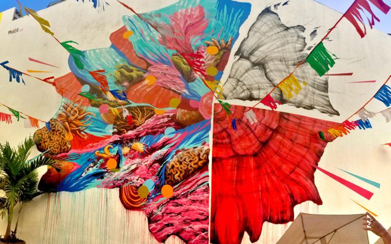 Australian Artist Meggs Illustrating Coral Bleaching for Pangeaseed in Cozumel :: I've Been Bit! Travel Blog