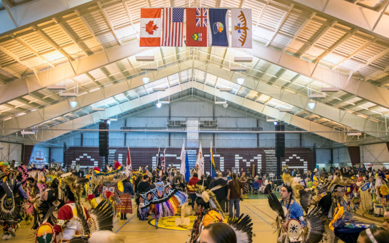 Grand Entry at the Gathering At The Rapids Pow Wow in Sault Ste Marie :: I've Been Bit! Travel Blog