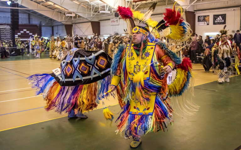 Indigenous Dancers in Their Regalia at the Gathering at the Rapids Pow Wow :: I've Been Bit! Travel Blog