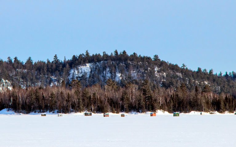 Ice Fishing Huts on Sault Ste Marie Waters :: I've Been Bit! Travel Blog