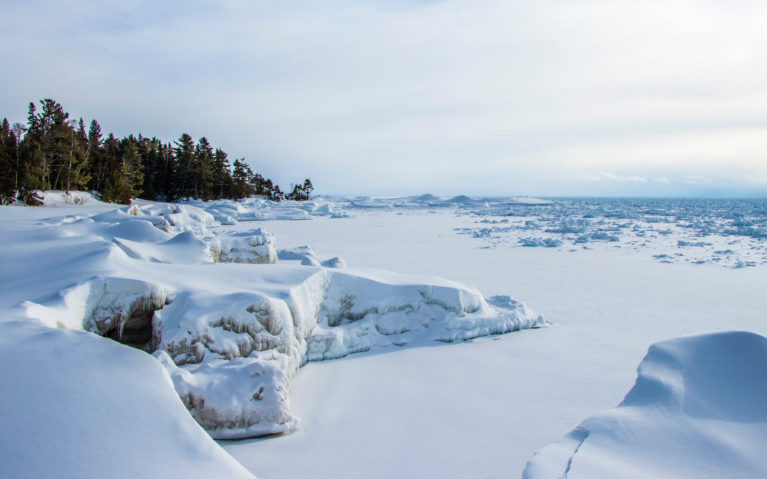 Ontario's Infamous Ice Caves on Lake Superior Near Sault Ste Marie :: I've Been Bit! Travel Blog