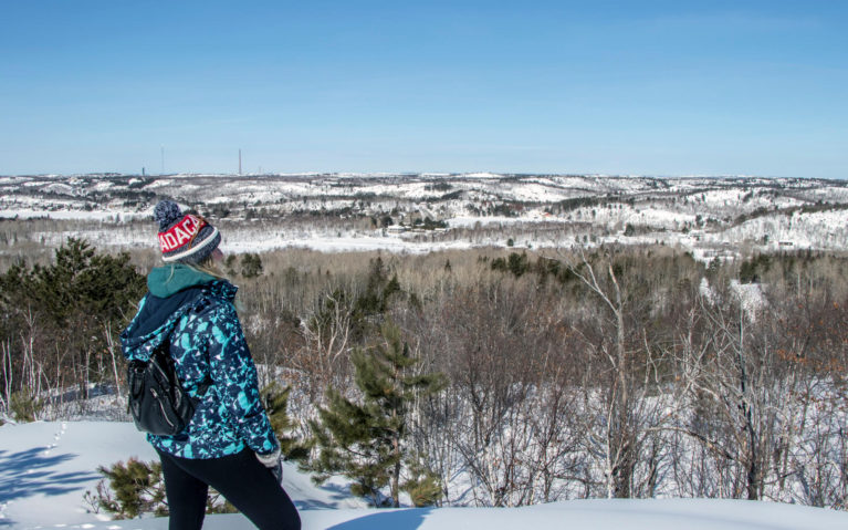 Lindsay at One of the Kivi Park Lookouts in Sudbury, Ontario :: I've Been Bit! Travel Blog