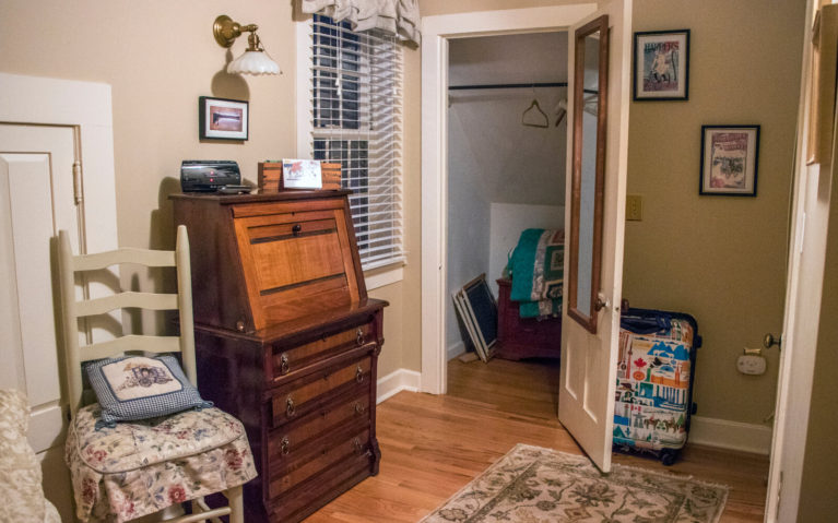 View of Desk, Closet and Chair in Haydenville Room :: I've Been Bit! Travel Blog