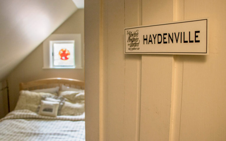View of the Haydenville Room from the Door in the Sugar Maple Trailside Inn :: I've Been Bit! Travel Blog