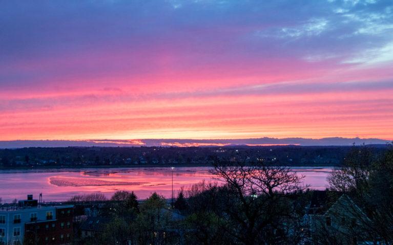 Vibrant Sunset over Portland Maine :: I've Been Bit! Travel Blog