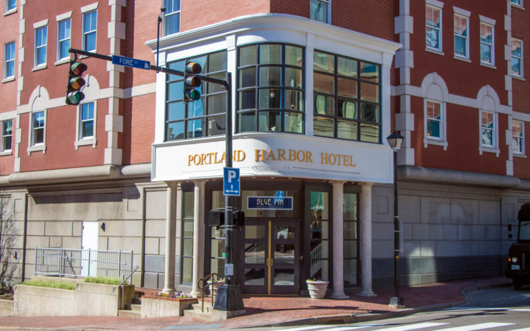 Front of the Portland Harbor Hotel from Across the Street :: I've Been Bit! Travel Blog
