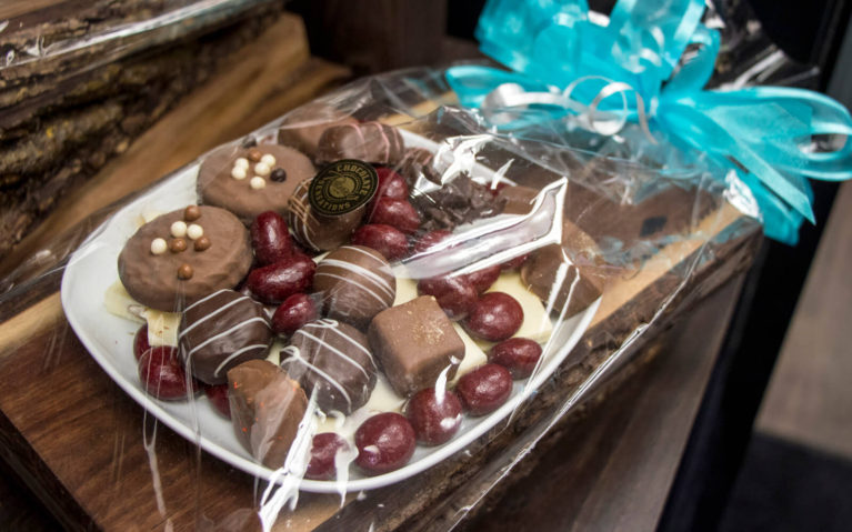Assortment of Chocolates in a Gift Basket at Chocolate Sensations :: I've Been Bit! Travel Blog