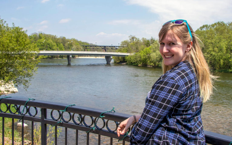 Lindsay Overlooking the Grand River in Paris Ontario :: I've Been Bit! Travel Blog