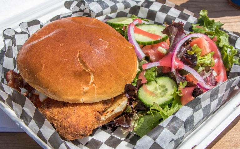 The Rooster Sandwich with a Side Salad from the Mitchell Golf and Country Club :: I've Been Bit! Travel Blog