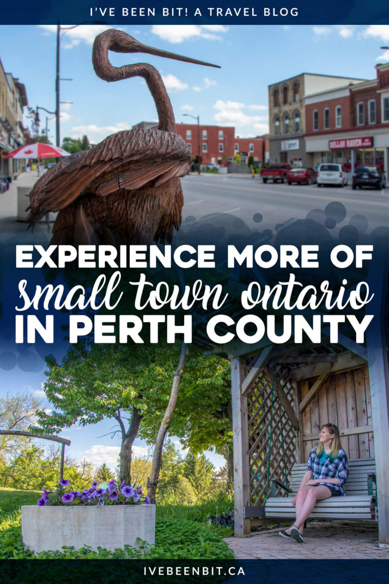 Country roads, amazing eats and plenty of fun, this area of small-town Ontario, Canada is a must-visit! Check out this list of things to do in Perth County & plan your adventure! | #Travel #RoadTrip #Canada #Ontario #PerthCounty #SupportLocal | IveBeenBit.ca