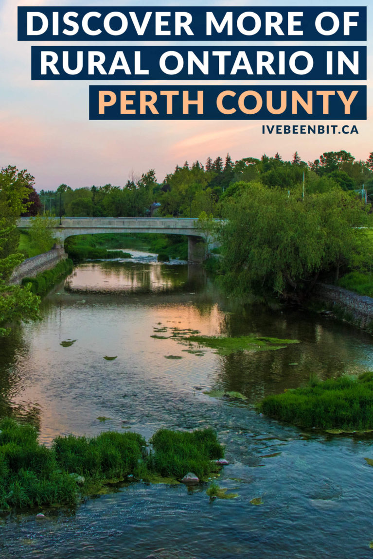 Check out this list of things to do in Perth County & plan your adventure. With country roads, amazing eats and plenty of fun, this area of small-town Ontario, Canada is a must-visit! It makes the perfect day trip from Toronto, Kitchener and more! | #Travel #RoadTrip #Canada #Ontario #PerthCounty #SupportLocal | IveBeenBit.ca