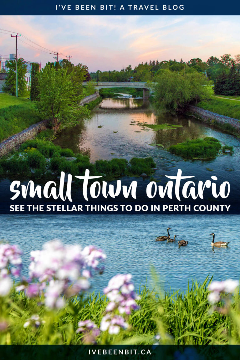 You'll find the ultimate list of things to do in Perth County, Ontario. Visit Perth County to find plenty of small town Ontario charm, natural beauty, incredible restaurants and more! Inside you'll find all the details to plan your adventure! | #Travel #RoadTrip #Canada #Ontario #PerthCounty | IveBeenBit.ca