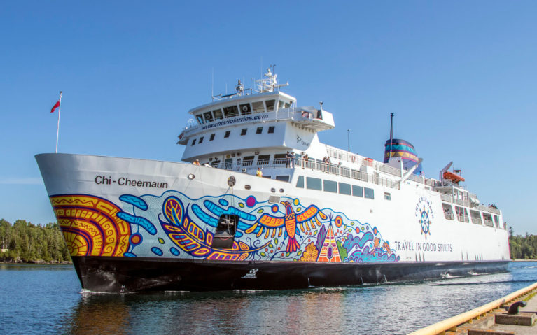 MS Chi-Cheemaun From the Dock in South Baymouth Manitoulin Island :: I've Been Bit! Travel Blog