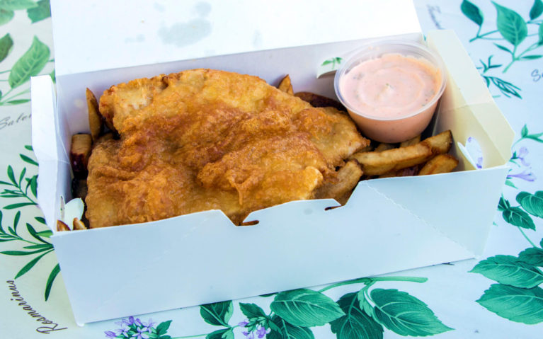Whitefish with Fries and Homemade Spicy Tartar Sauce at Lake Huron Fish and Chips on Manitoulin Island :: I've Been Bit! Travel Blog