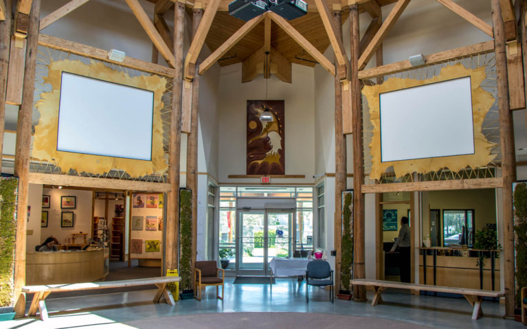 Shot From the Middle of the Ojibwe Cultural Foundation :: I've Been Bit! Travel Blog