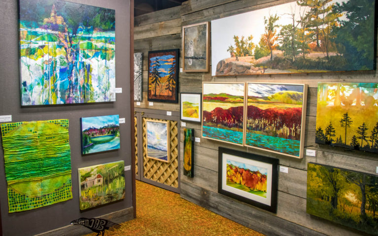 View Inside One of the Rooms of the Perivale Gallery on Manitoulin Island :: I've Been Bit! Travel Blog