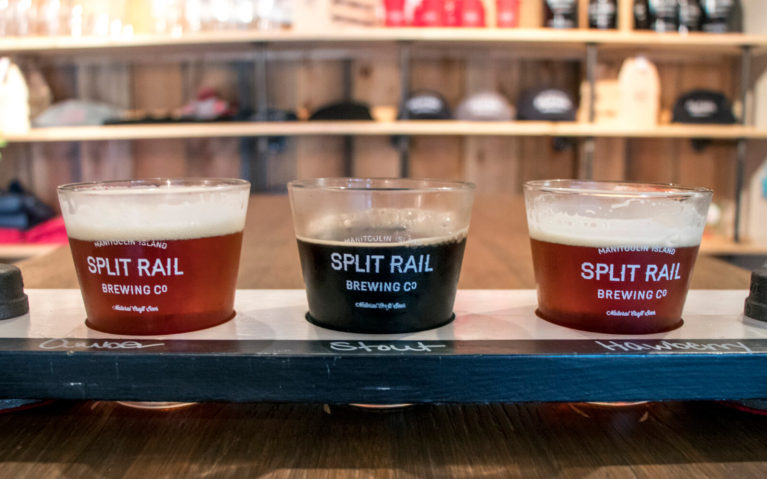 Flight of Beer at Split Rail Brewing Company in Gore Bay, Manitoulin Island :: I've Been Bit! Travel Blog