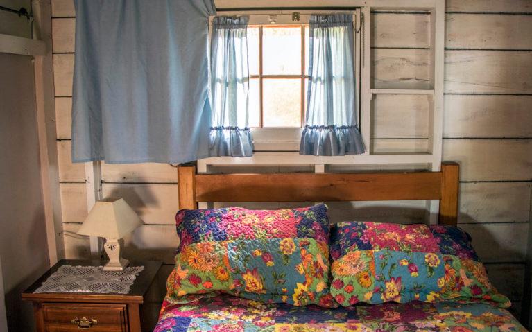The Bedroom of Cottage 3 of Bruce Bay Cottages :: I've Been Bit! Travel Blog