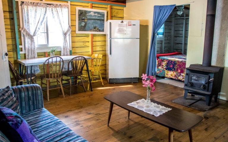 Inside of Cottage 3 at Bruce Bay Cottages in Bruce Mines :: I've Been Bit! Travel Blog
