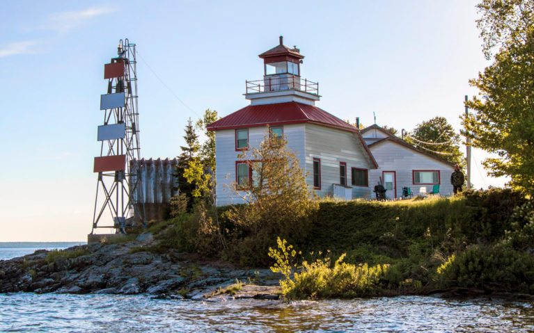 View of McKay Lighthouse from the Water :: I've Been Bit! Travel Blog